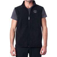 Hammer Anvil Mens Full Zip Up Fleece Vest Lightweight Sleeveless Fleece Sweater