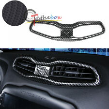 Carbon Fiber Style Air Condition Vent Frame Outlet Cover Trim For Jeep Renegade