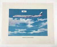 1967 Delta Airlines Douglas DC-8-61 Fan Jet Poster. 16 X 20. Great Shape!