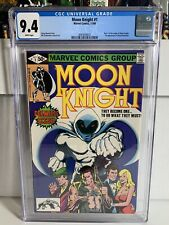 Moon Knight 1 CGC 9.4 White Pages