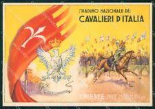 Militari 2º Raduno Cavalieri Italia Trieste 1936 Cavalleria FG cartolina XF7491
