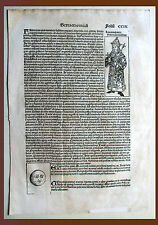 Schedel Weltchronik, Pag. CCIX - Holzschnitt 1493, Graphik Grafik