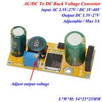 AC/DC To DC Converter AC 2.5V-27V 24V To DC 3.3V 5V 9V 12V 24V 3A Volt Regulator