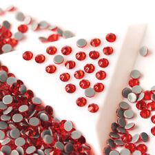 Light Siam Glass Strass DIY Crafts FlatBack Red Rhinestones Hotfix Crystals
