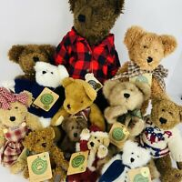 Boyds Bears Plush Lot Of 12 Collectibles With Tags Displayed Only 6 to 16 inches