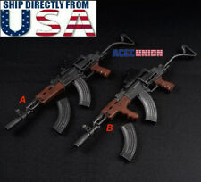 1/6 Scale AK47 AKM Wooden Texture Tactical Gun Weapon Models For 12