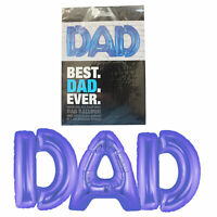 Blue 40cm DAD Letter Text Balloon - Father's Day Gift