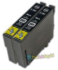 2 Negro t1291 « Apple » los cartuchos de tinta (no Oem) se ajusta a Epson Stylus Office bx320fw