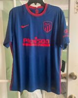 Men's Nike Engineered Atletico Madrid 20/21 Away Soccer Jersey CD4223-491 Size L