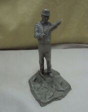 "1978 Franklin Mint Fine Pewter Ron Hinote ""The Tobacco Grower"" Sculpture & Box"