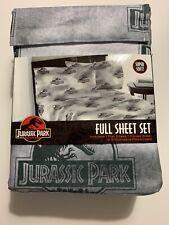 Jurassic Park Dinosaur Full Sheet Set 4pcs Super Soft NIP