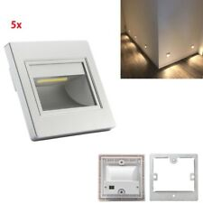 5Pcs Warm White Indoor LED Wall Plinth Recessed Stair Step Lamp Corner Lights
