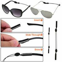 2PCS Schwarz Brillenschnur Brillen Band Brillenkordel Sportband Sonnenbrille