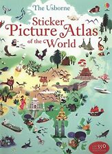Sticker Picture Atlas of the World New Paperback Book Sam Lake, Nathalie Ragonde