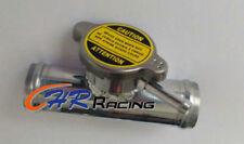 "38mm 1-1/2"" Alloy Aluminum In Line Radiator Hose Connector Filler Neck + Cap"