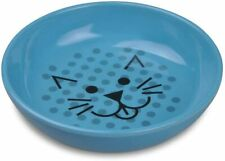 Van Ness Ecoware Cat Dish, 8 Ounce, Assorted Colors, Pacific Blue, Single Dish
