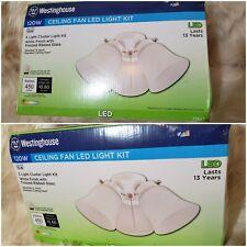 Westinghouse White 3 Light LED Ceiling Fan Light Kit LOT OF 2