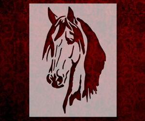 "Horse Head 8.5"" x 11"" Custom Stencil FAST FREE SHIPPING (366)"
