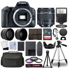 Canon EOS Rebel SL2 / 200D Body+ 3 Lens Kit 18-55mm IS STM + 16GB + Flash & More