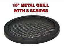 "10"" INCH CAR SPEAKER WOOFER STEEL MESH GRILL WITH SPEED CLIPS AND SCREWS"