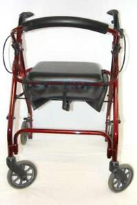 Nova Getgo Classic Red Walker Mobility 4202CRD 300lbs Max Storage Seat Wheels