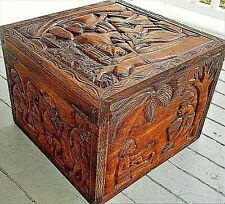 Hand Carved African Rosewood Jewelry Box