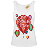 Be different babe T-Shirt individual Vest White Womens