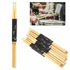 12Pairs Drumsticks 5A Maple Wood Snare Drum Stick for Practice Free Shipping