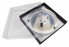 Samoyed Dog Glass Paperweight in Gift Box Christmas Present, AD-SO76PW