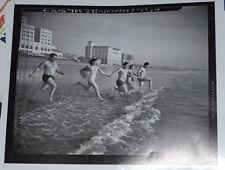 """Rare Vintage Santa Monica, California 16""""x20"""" Giclee """"Beach Scene"""" Picture"""