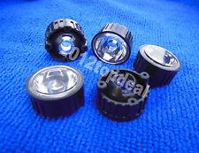 100pcs 60degree led Lens for 1W 3W High Power LED with screw 20mm Black holder