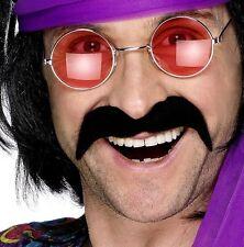 Années 70 1970 60 Déguisement Tash Self Adhésif Moustache Noir par Smiffys