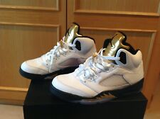 Nike Air Jordan 5 V Retro Olympic US10 44 white black metallic gold