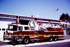 Fire Apparatus Slide Alert Hook & Ladder Phillipsburg NJ 1986 Mack Baker NJ124