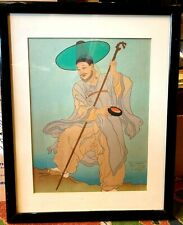 Paul Jacoulet woodblock print professionally framed Original