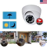 1200TVL 3.6mm Video CCTV Dome Camera Analog CMOS Home Security BNC NTSC PAL