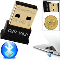Mini Bluetooth 4.0 USB 2.0 CSR4.0 Dongle Adapter For Win 8 7 XP Laptop PC #SK015