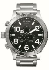 Nixon 51-30 esfera negra Cronógrafo reloj hombre acero inoxidable A083-000