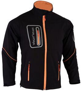 Mens Black Softshell Pro Waterproof Windproof Jacket  Long Sleeves & Zip Pockets