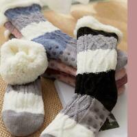 Thick Warm Sleep Socks Slippers Socks Thicken Women Winter Warm Casual Y9J0