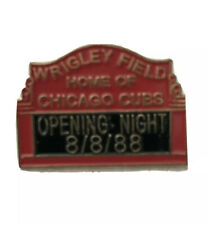 Wrigley Field First Night Game Opening Commemorative Pin 8/8/1988