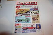 RETROMANIA 62-Citroën Méhari-Fiat 128-Vespa 400-DS Chapron-Alfa Spider-Champion