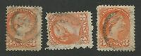 "CANADA #41 USED SMALL QUEENS 2-RING NUMERAL CANCEL ""3"""