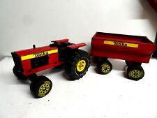 Vintage Tractor & Trailer Tonka Toy 1970's Red Pressed Steel Xmb-975