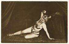 Art Deco Dancer MARA MANDELIK Tänzerin * Vintage 1920s Real Photo PC