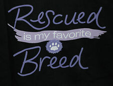 XL NWOT Rescued Is My Favorite Breed Two Toned Zip Front Hoodie