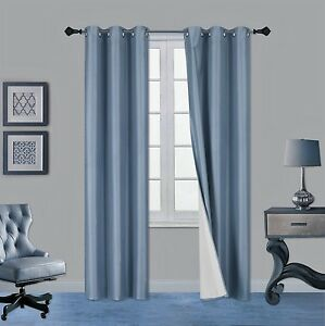 1 SET ADAM LIGHT FILTERING ANTIQUE EYELET WINDOW CURTAIN PANEL DRAPE ROOM DECOR