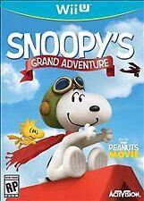 Peanuts Movie Snoopy's Grand Adventure RE-SEALED Nintendo Wii U GAME