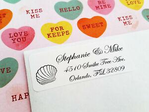 Beach Wedding Return Address Labels, Guest Address Labels, Wedding RSVP