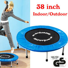 "38"" Foldable Trampolines Sporting Goods Fitness Rebounder Home & Outdoor Gym"